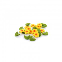 Felt sunflower 40mm 12pcs
