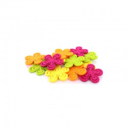 Felt flower 4 colours 12pcs