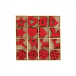 Box w/80 Christmas red felt shapes