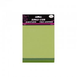Faux leather 16x20cm x3 sheets kiwi/hunter/olive
