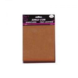 Faux leather 16x20cm x3 sheets brown/tan/camel