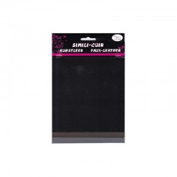Faux leather 16x20cm x3 sheets black/slate/grey