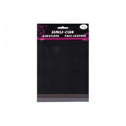 Faux leather 16x20cm x3 sheets black/slate/grey
