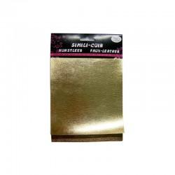 Faux leather metallic 16x20cm x3 sheets gold/bronze/copper