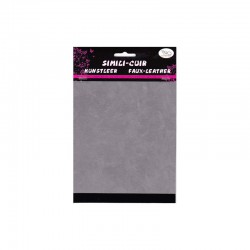Faux suede 2 sided 16x20cm x2 sheets grey/black