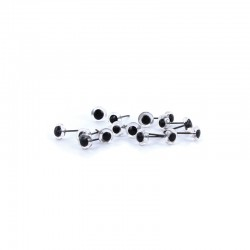 Glass eyes with pupil - 7mm - 40pcs (20 pair)