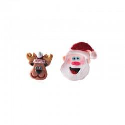 3D pons set 2st - Kerstman en rendier