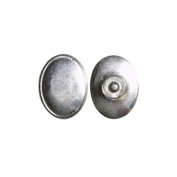 Click'on setting oval 30x22mm, rhodium 5pcs