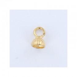 Double bead cap clasp 23mm° d.14mm gold x10 sets