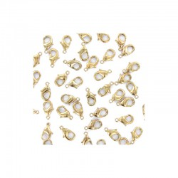 Lobster clasp, 8mm gold 100pcs