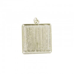 Pendant cup square 25x25mm gold x1pc