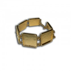 Bracelet square 20x20mm gold x1pc