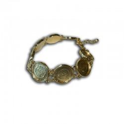 Bracelet round 16x16mm gold x1pc