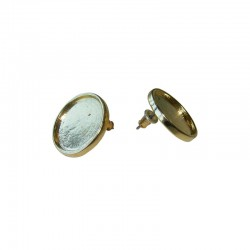 Ear rings round cup 16mm gold x1 pair