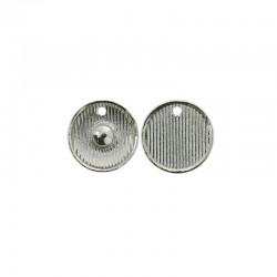 Click'on setting for bases 18mm, rhodium 25pcs (use 16mm dome)