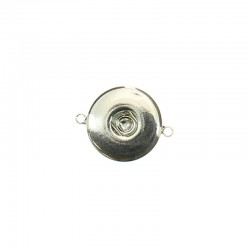 Click'on base 18mm two rings, rhodium 5pcs