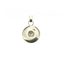Click'on pendant base 18mm, rhodium 2pcs