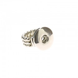 Stretch finger ring Click'on 18mm, rhodium