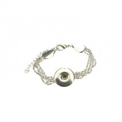 Chains bracelet Click'on 18mm rhodium
