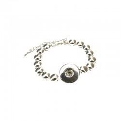 Metal bracelet Click'on 18mm rhodium