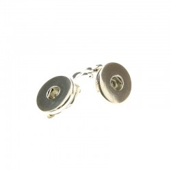 Pair clip ear rings Click'on 18mm rhodium