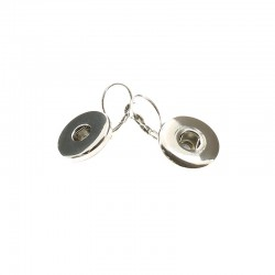 Pair ear sleepers Click'on 18mm rhodium