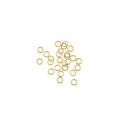 Jump ring 3mm gold 200pcs