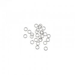 Jump ring 6mm silver 200pcs