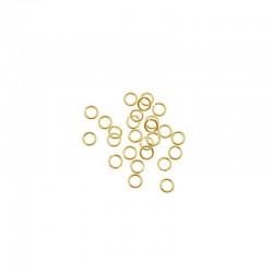 Jump ring 6mm gold 200pcs