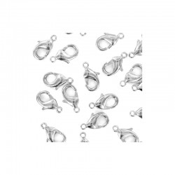 Lobster clasp 16mm rhodium 100pcs