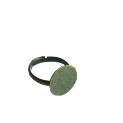 Finger ring with plate Ø18mm - Bronze (50 pcs)