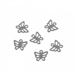 Mini charm silver - Butterfly 1 (20 pcs)