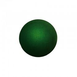 Flat round 25mm° satin emerald green 4pcs