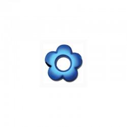 Flower 34mm° satin royal blue 4pcs