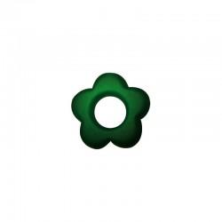 Flowers 20mm° satin emerald green 6pcs