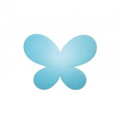 Butterfly 46x24mm satin light blue 2pcs