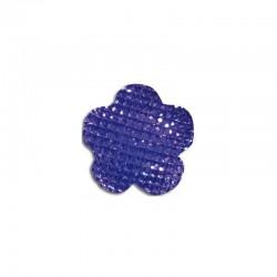 Flower cabochon 20mm 'Shine' purple 6pcs