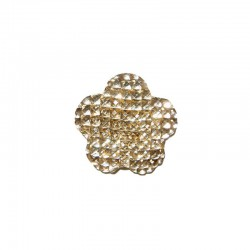 Flower cabochon 20mm 'Shine' gold 6pcs
