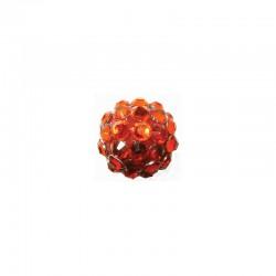string resin rhinestone beads 12mm red 8pcs°