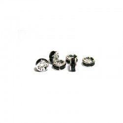 Rhinestone rondelle 10mm 12pcs black