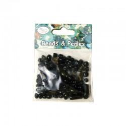 Assort. Glass beads Black/Grey 50g