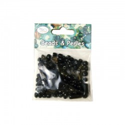 Assort. Glass beads Black/Grey 50g