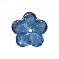 Glass buttercups 14mm x20pcs blue