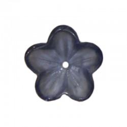 Glass buttercups 14mm x20pcs tanzanite