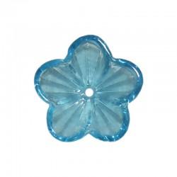 Glass buttercups 14mm x20pcs turquoise