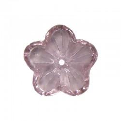 Glass buttercups 14mm x20pcs pink