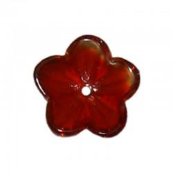 Glass buttercups 14mm x20pcs red