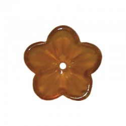 Glass buttercups 14mm x20pcs topaz