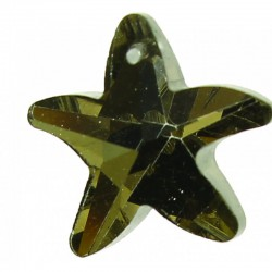 Cut crystal star 17mm x4pcs crystal silver back