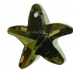 Cut crystal star 17mm x4pcs crystal silver back